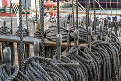 Marine knots and ropes Royalty Free Stock Photography