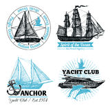 Marine Labels Set Stock Photography