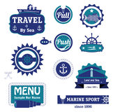 Marine labels set Royalty Free Stock Photography