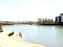 Marine lake & beach, Weston-Super-Mare Stock Image