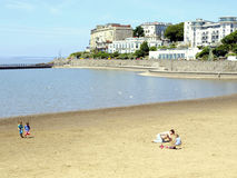 Marine lake, Weston-Super-Mare. Royalty Free Stock Image