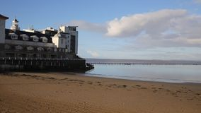 Marine Lake in Weston-super-Mare Somerset England Royalty Free Stock Photo
