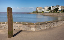 Marine Lake Weston-super-Mare Somerset England UK. And Knightstone Island.  The best family beach in Weston-s-mare Stock Photography