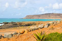 Shores of Cape Verde, Africa Royalty Free Stock Photos