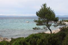 Marine landscape, Aegean sea. Marine landscape near Greek coastline royalty free stock photos
