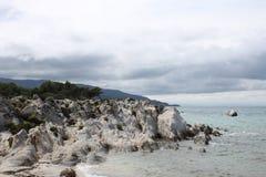 Marine landscape, Aegean sea. Marine landscape near Greek coastline stock photography