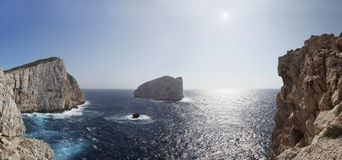 Marine landscape, Capo Caccia, Alghero Sardinia Stock Photo