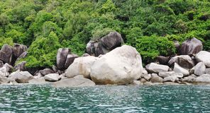 Marine landscape with stone boulders, Koh Tao, Thailand Stock Photography