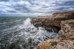 Marine landscape from Tjulenovo village, Bulgaria, Eastern Europe. Selective focus royalty free stock photo