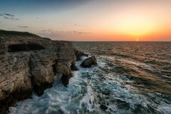 Marine landscape from Tjulenovo village, Bulgaria, Eastern Europe. Selective focus royalty free stock images