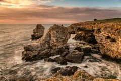 Marine landscape from Tjulenovo village, Bulgaria, Eastern Europe. Selective focus royalty free stock photos
