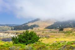 Marine Layer av Carmel Highlands Arkivfoto