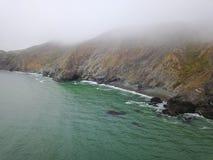 Marine Layer en Kust van Noordelijk Californië royalty-vrije stock afbeeldingen