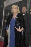 Marine Le Pen Arrives in Keer 100 van 2015 Feest Stock Fotografie
