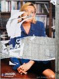 Marine Le Pen-beschadigde affiche Royalty-vrije Stock Fotografie
