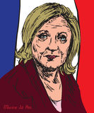 Marine Le Pen Marion Anne Perrine Le Pen, French politician, the president of the National Front, French presidential candidacy Royalty Free Stock Photography