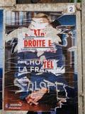 Marine Le Pen po drugie głosuje wokoło Francja presi niszczył plakat Obraz Stock