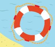 Marine Life Buoy en agua Imagen de archivo