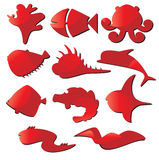 Marine life icon set abstract Stock Photos