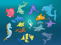 Marine life -  illustration Stock Images