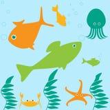 Marine life scene Stock Images