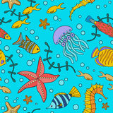 Marine life sea pattern Stock Photo
