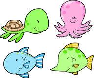 Marine-Life Set Vector Stock Photo