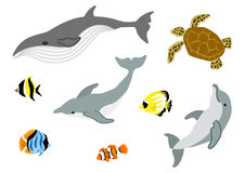 Marine life set Royalty Free Stock Photos
