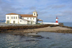 Marine light and church Royalty Free Stock Image