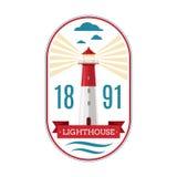 Marine lighthouse vector logo royalty free illustration