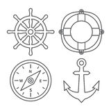 Marine Line Icons libre illustration