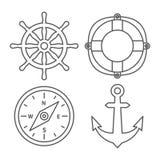 Marine Line Icons Imagen de archivo