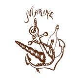 Logo marine Royalty Free Stock Photos