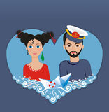 Marine love Royalty Free Stock Image