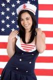 Marine-Mädchen Lizenzfreie Stockfotografie