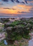 Marine magical landscape before sunset. Royalty Free Stock Photos
