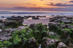 Marine magical landscape before sunset. Stock Photography