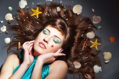 Marine makeup Royalty Free Stock Image