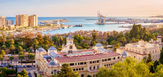 The Marine of Malaga. Malaga, Spain, is one of the most dynamics cities in south Europe. It is a modern city with museums, restaurants, entertainment, and royalty free stock photos