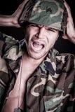 Marine Man Afraid images libres de droits