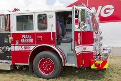 Marine marquée Pearl Harbor des USA de camion de pompiers de Pierce Photographie stock