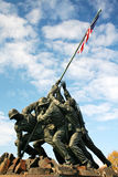 Marine Memorial. In Washington DC depicting US marines raising the US flag Royalty Free Stock Photos