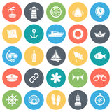 Marine Minimal Icon Set Royaltyfria Foton