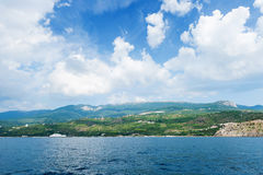 Marine mountainous coast Royalty Free Stock Image