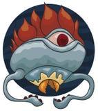 Marine Mutant Creature met Tentakels, Bek en Één Oog, Vectorillustratie vector illustratie
