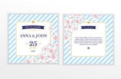 Marine nautical flower wedding invitation vector illustration