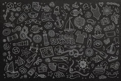 Marine nautical hand vector symbols and objects Royalty Free Stock Image