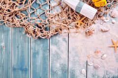 Marine or nautical themed background Stock Photography