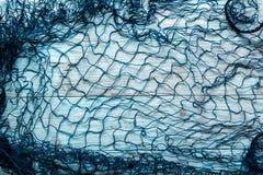 Marine Network på blåa bräden Arkivbild