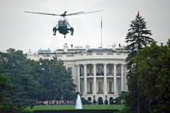 Marine One and White House royalty free stock photo